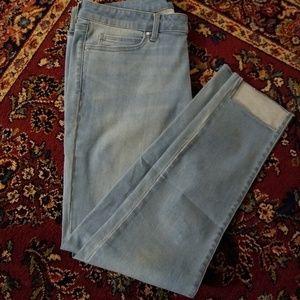 Uniqlo Skinny Stretch (Cropped) Blue Jeans